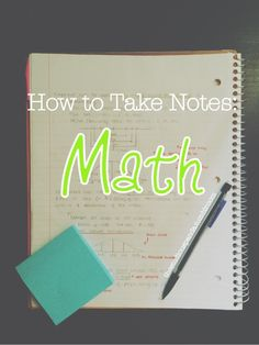 Over the years, I've tried a few different styles of math notes and a few different styles of studying them, and came to the conclusion that my ability to do math really came from how...