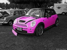 Hot Pink MINI Cooper S by smenzel, via Flickr