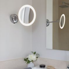 Bathroom Lights Mounted On Mirror lighted wall mounted magnifying mirrors for bathrooms - google