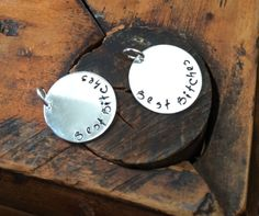 click here to personalize your best friends charms: https://www.etsy.com/listing/158158494/34-best-friends-circle-charms-custom-bff?ref=shop_home_active_20 $6  BestBitches  Sterling silver  BFF charms