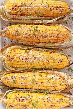 Grilled Corn On The Cob Barbeque Side Dishes, Barbeque Sides, Grilled Fruit, Grilled Vegetables, Bbq Vegetables, Barbecue Recipes, Grilling Recipes, Grilling Tips, Barbecue Sauce