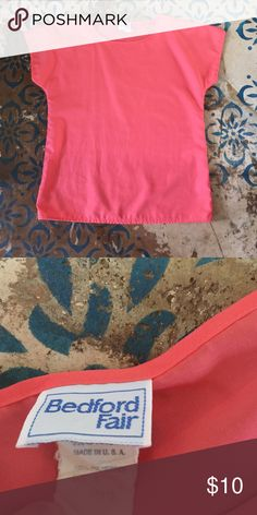 Vintage Top Vintage top. Coral pink color. Great shape. I don't see any holes or spots. Looks to be in excellent condition. Tops Blouses