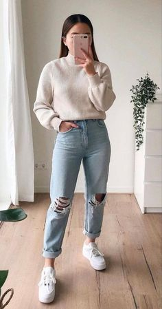 Modest Outfits, Cute Casual Outfits, Simple Outfits, Boho Outfits, Pretty Outfits, Winter Fashion Outfits, Fall Outfits, Outfit Chic, Winter Mode
