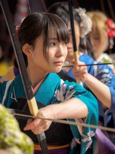 弓道 大的大会 三十三間堂 Kyoto, Japan