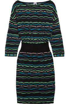 M Missoni|Cutout-back patterned knitted dress|NET-A-PORTER.COM