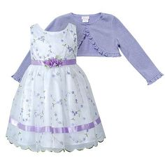 Youngland Floral Bubble Dress and Leggings Set Girls 4