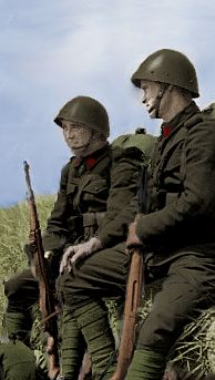 Czechoslovak soldiers in color