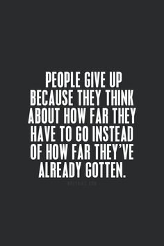 don't give up ""
