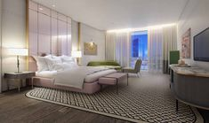 Discover spacious, luxurious rooms and residential suites, world-class décor, unforgettable dining and nightlife experiences at this modern luxury hotel in Downtown Miami. Philippe Starck, Miami, Oasis, Lux Hotels, Cosy Bedroom, Bedroom Ideas, Luxury Condo, Hotel Suites, Guest Suite
