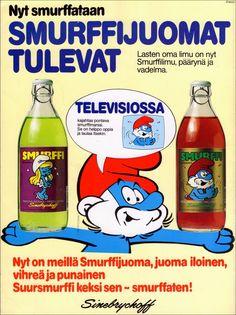 Smurf lemonade, Sinebrychoff 1983.