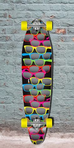 """Longboards USA - Black Shades 40"""" Kicktail Longboard from Punked - Complete, $105.00 (http://longboardsusa.com/longboards/longboards-for-beginners/black-shades-40-kicktail-longboard-from-punked-complete/)"""