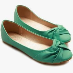 Adorable mint stylish flat fashion