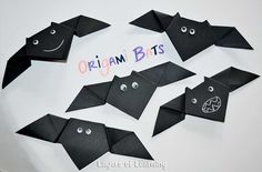 Make these cool origami bats with your kids for Halloween or as a part of bat study.