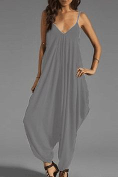 a5157cd5aac  23 Spaghetti Strap Backless Plain Sleeveless Jumpsuits Long Jumpsuits