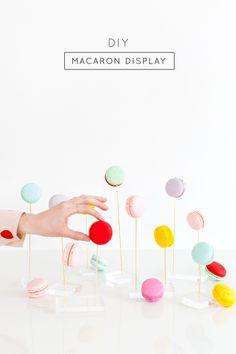 DIY macaron display