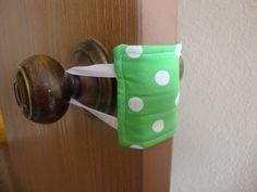 Nursery Door Muffler / Silencer  Green with by PlaidPlatypusGifts