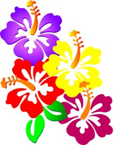 hawaiian flower clip art tropical plants clip art vector clip art rh pinterest com hawaiian flower clip art free hawaiian flowers clipart