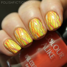 Triple stamping with Colour Alike My Perfect Summer stamping polishes