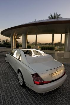 White Maybach with Sunroof