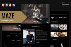 Photography Portfolio HTML Template Adobe Muse, Envato Elements, Html Website Templates, Photography Portfolio, Maze, Photo Studio, Cool Designs, Personal Photo, Lawyer