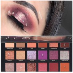 """332 mentions J'aime, 7 commentaires - Make-Up Artist (@jbagh_mua) sur Instagram: """"Pictorial using @hudabeauty desert dusk palette ! Also have you seen her new eyeshadow palettes!…"""""""
