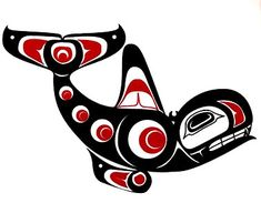 Haida Killer Whale art, I love west coast art!