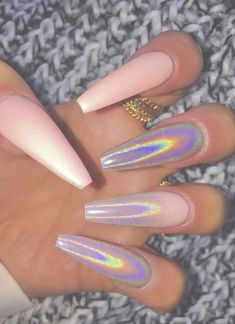 Light Pink Ballerina Nails ideas 53 Chic Natural Gel Nails Design Ideas For Coffin Nails - 31 Best Stiletto Nails Aycrlic Nails, Dope Nails, Coffin Nails, Fun Nails, Hair And Nails, Manicures, Halo Nails, Nails 2018, Bling Nails