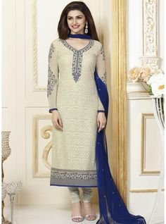 Aristocratic Prachi Desai Designer Pakistani Salwar Suit For Casual wear-3301