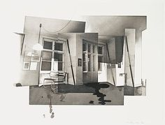 "RICHARD HAMILTON, ""Berlin interior"". Photogravure, etching and roulette, 1979, signed in pencil.... - Contemporary, Stockholm 576 – Bukowski..."