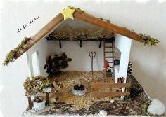 Fabriquer une cr che en bois guide pratique no l - Fabriquer creche de noel en bois ...