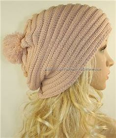 crochet baggy hat pattern   Knit Hat Cap Beanie Slouchy Baggy Rasta Pom Pom Ribbed   eBay