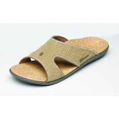 d606f21f39f Spenco Kholo Slides for Men  amp  Women in a Straw Java Cork Flip Flop  Sandals