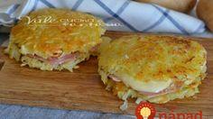Bez múky a vajec: Chrumkavé zemiakové placky plnené šunkou a syrom – najjednoduchší recept!