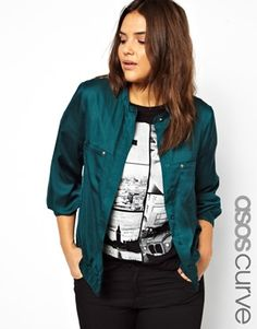 ASOS CURVE Exclusive Bomber Top  Forget Pantone, this is the colour of 2014 (IMO)