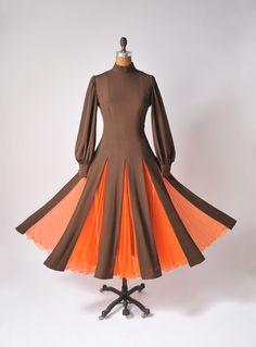 The Pumpkin Queen Designer Gown - Vintage Paule Nelson Designer MOD Dress - 1960's Dress I. Magnin Made in Italy.