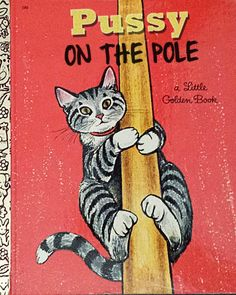 Bad Little Children's Books - A Bob Staake Gallery Satire, Humor and Visual Parody of Classic Children's Books From the Through My Lola was living in a room with a stripper pole! Vintage Children's Books, Vintage Cat, Vintage Kids, Vintage Images, Etsy Vintage, Shrek, Maze Runner, Funny Animal Pictures, Funny Animals