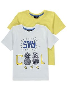 2 Pack Assorted T-shirts, read reviews and buy online at George at ASDA. Shop from our latest range in Kids. Uplift their casual outfits with the…