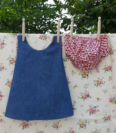 Betty Kingston's crossover pinny and nappy cover