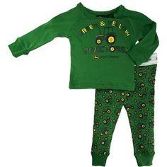 John Deere Infant Tractors Pajama Set Green (12 Month) « Clothing Impulse