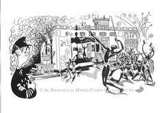 """Showboat"" by Al Hirschfeld"