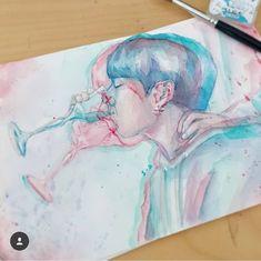 I've never seen an image like that just. Jungkook Fanart, Kpop Fanart, Kpop Drawings, Fan Art, Beautiful Drawings, K Pop, Bts Wallpaper, Art Inspo, Creative Art