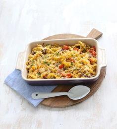 Pasta-ovenschotel met ricotta en gehakt