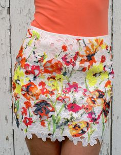 Pickin' Wildflowers Skirt - free shipping on all orders!