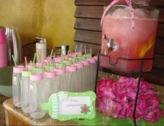"Baby Shower Polka Dots / Baby Shower ""Hot Pink and Lime Green"" 
