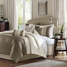 Amherst 7 Piece Comforter Set Color: Natural, Size: King Madison Park http://www.amazon.com/dp/B004WI7FRW/ref=cm_sw_r_pi_dp_9XLAvb08M18EK