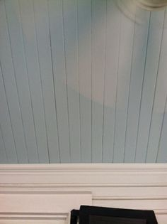 Benjamin Moore's Polar Sky for painted ceiling
