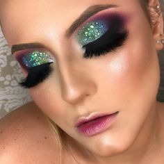 Makeup Eye Looks, Glam Makeup Look, Beautiful Eye Makeup, Sexy Makeup, Flawless Makeup, Makeup Inspo, Makeup Pictorial, Make Up Inspiration, Colorful Eye Makeup