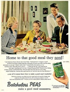 1954... eat your peas! by x-ray delta one, via Flickr