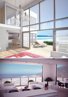 Modern Architecture, Modern House, Beach House, Living room, Interior Design