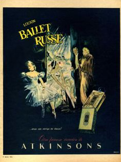 1951 ATKINSONS Ballet Russe fragrance ad  Argentina (Para Ti mag)